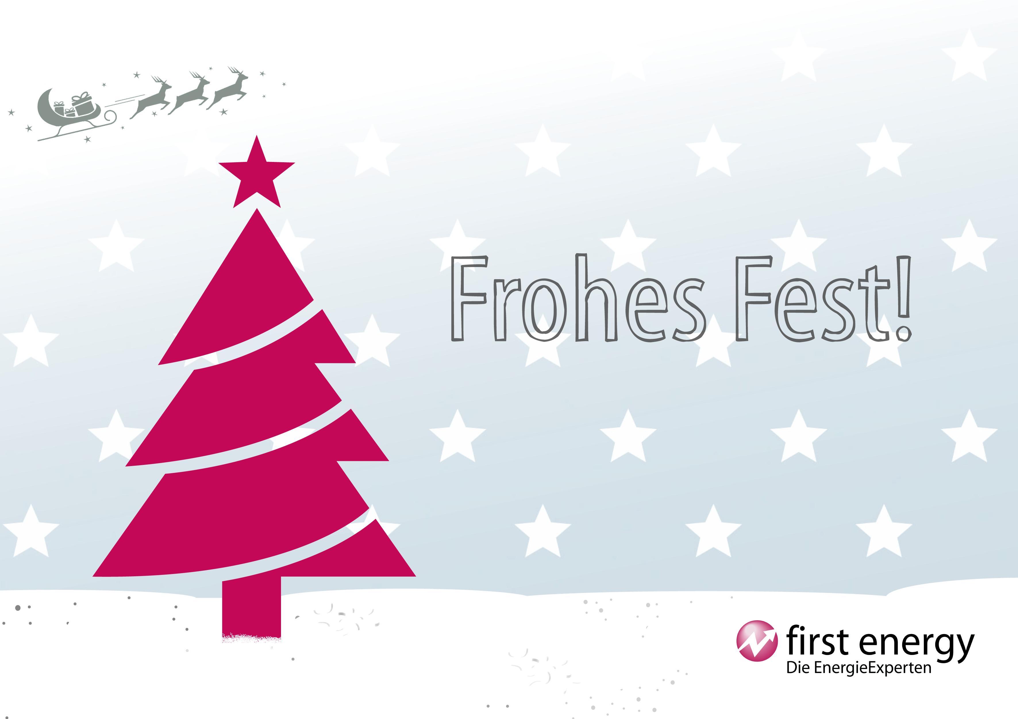 Frohe Weihnachten Wann Wünscht Man.First Energy Wünscht Allen Frohe Weihnachten